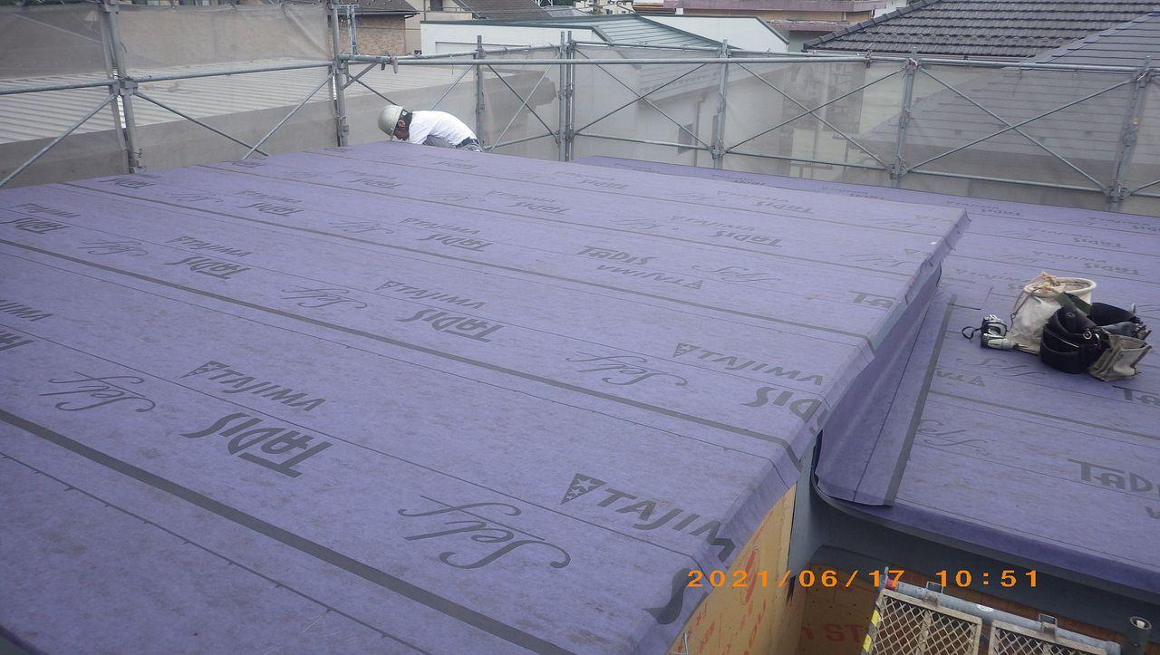 ルーフィング工事が完了しました。【屋根工事】