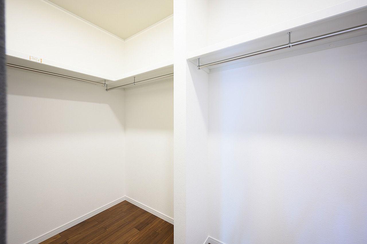 広々とした空間なので収納力も豊富です。