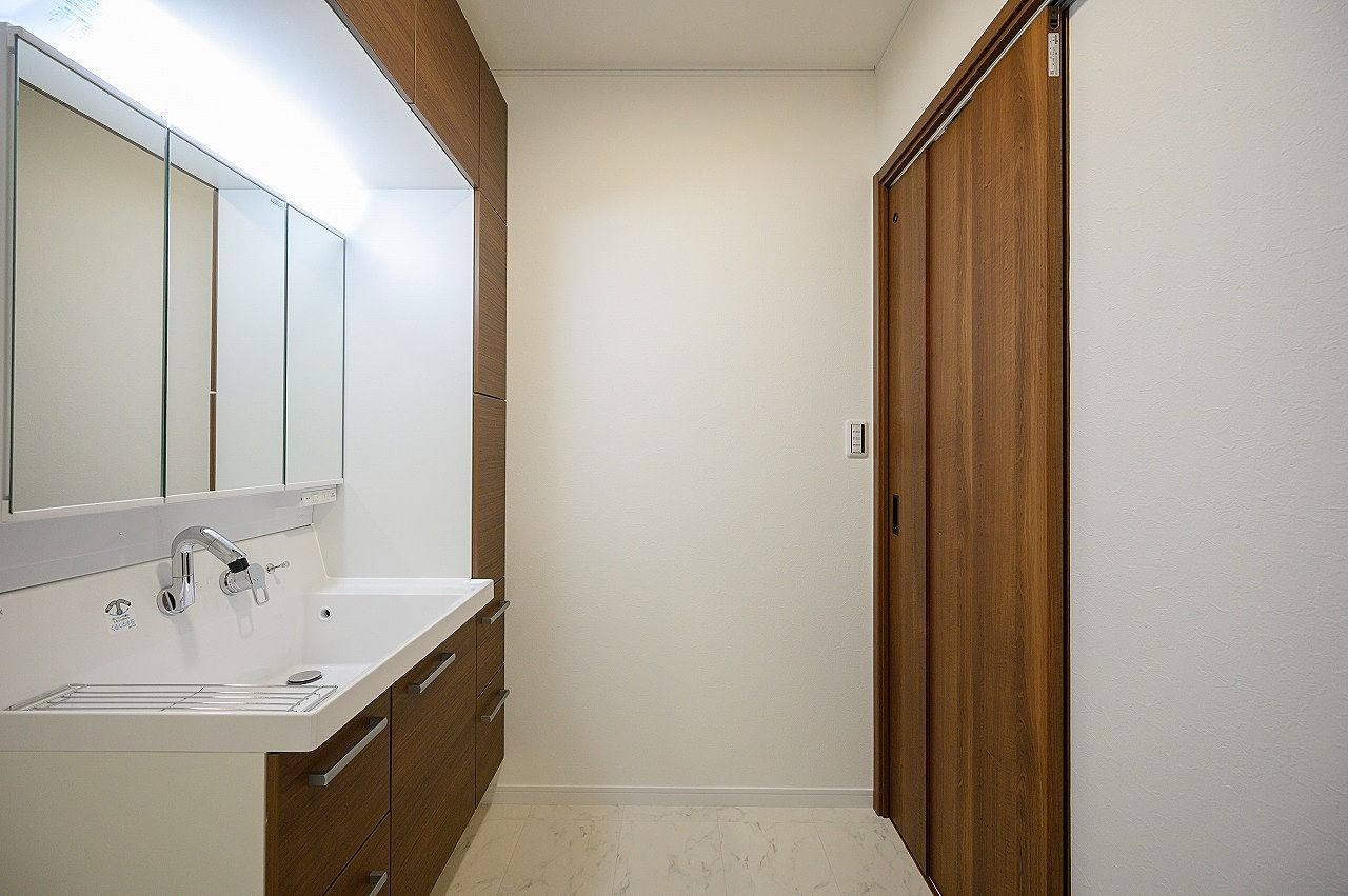 1坪スペースの洗面所